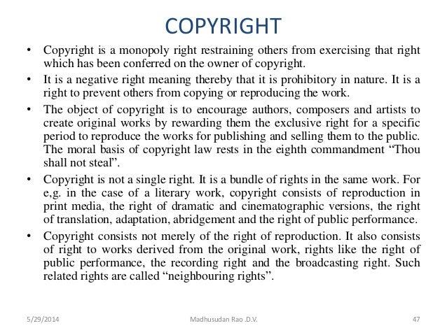 Copyright term paper