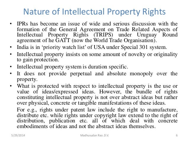Intellectual Property Rights Research Paper
