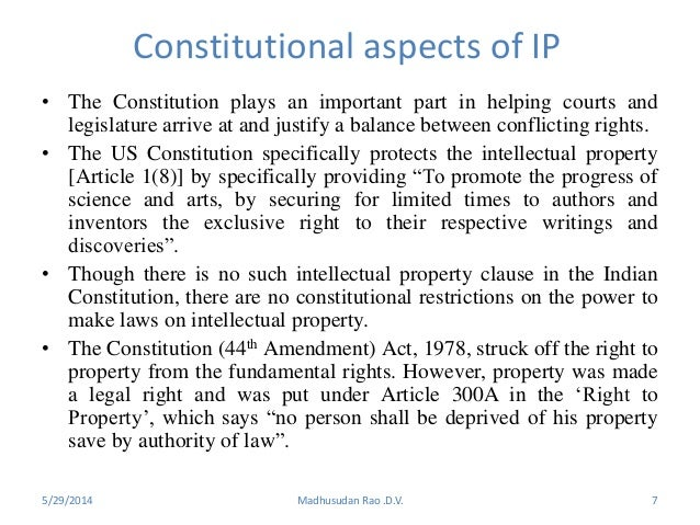 ipr as constitutional right Constitutional rights, powers and duties discussions of rights are sometimes confused concerning what are and are not rights of the people or powers of government or the duties of each this is an attempt to summarize most of the more important rights, powers, and duties recognized or established in the us constitution , in common law as it.