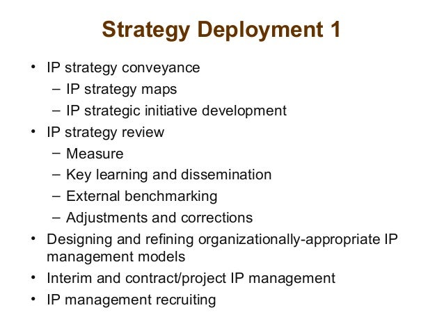 Intellectual property strategy strategy deployment maxwellsz