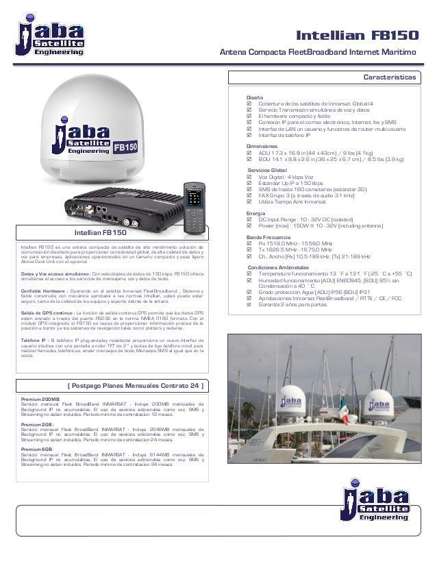 Intellian FB150 Antena Compacta FleetBroadband Internet Maritimo                                 ...