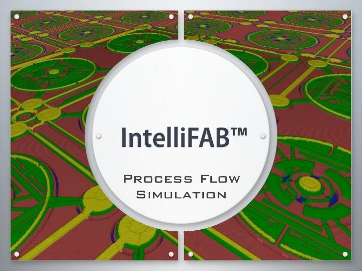 IntelliFAB™ Process Flow  Simulation