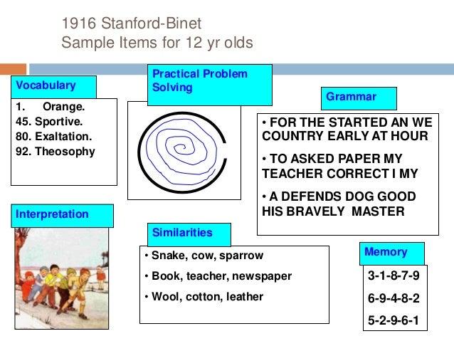 intelligence rh slideshare net Stanford-Binet Test Results Stanford-Binet Test Results