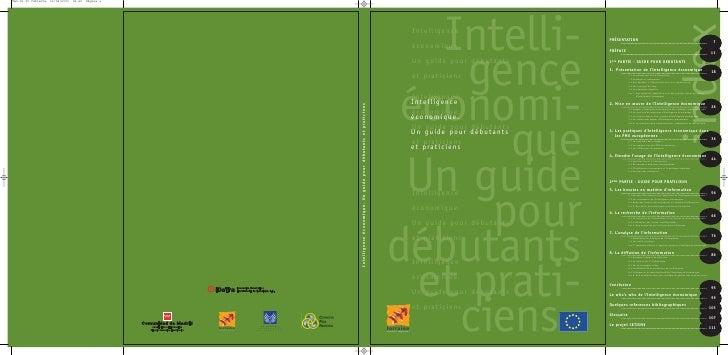 Intelli-        Intelligence                   économique.     gence         Un guide pour débutants                   et ...