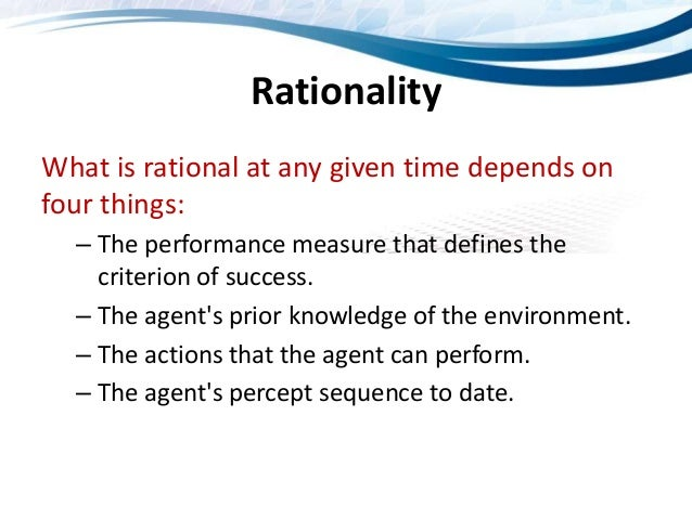 rational agent in artificial intelligence pdf