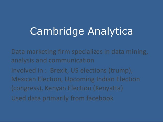 Intelligence And Consumer Data In Light Of The Fb Scandal