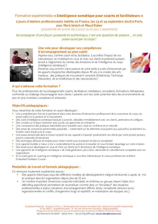 Embodied Potential - Enaxens S.A.S.U. | Développement innovant du leadership, résilience et qualité relationnelle Nº de SI...