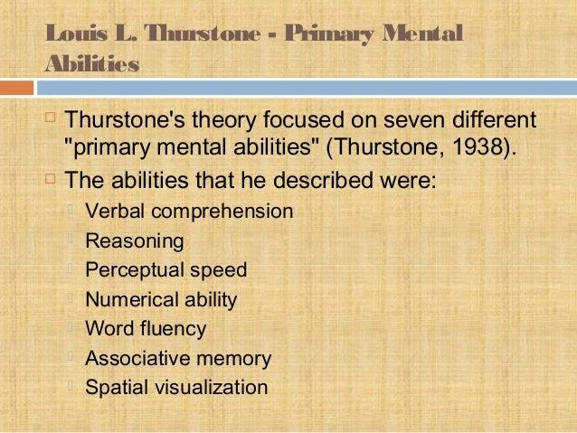 thurstone intelligence
