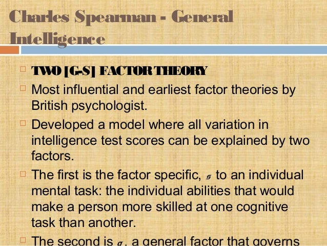 differences between spearman and gardner essay The nature and notion of intelligence essay is supported by a variety of psychologists including spearman we have to make the difference between.