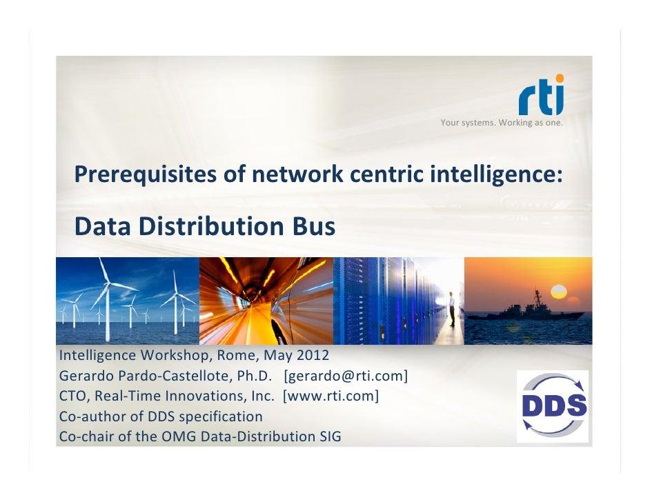 Yoursystems.Workingasone.  Prerequisitesofnetworkcentricintelligence:  DataDistributionBusIntelligenceWorkshop...