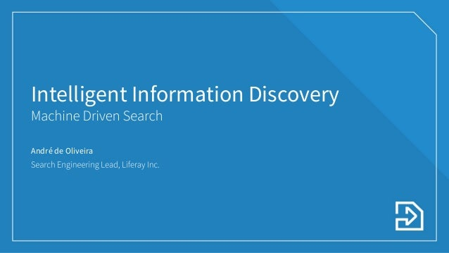 Intelligent Information Discovery: Machine Driven Search