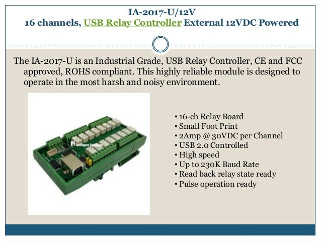 Intelligent Appliance | USB Relay board| usb relay contoller