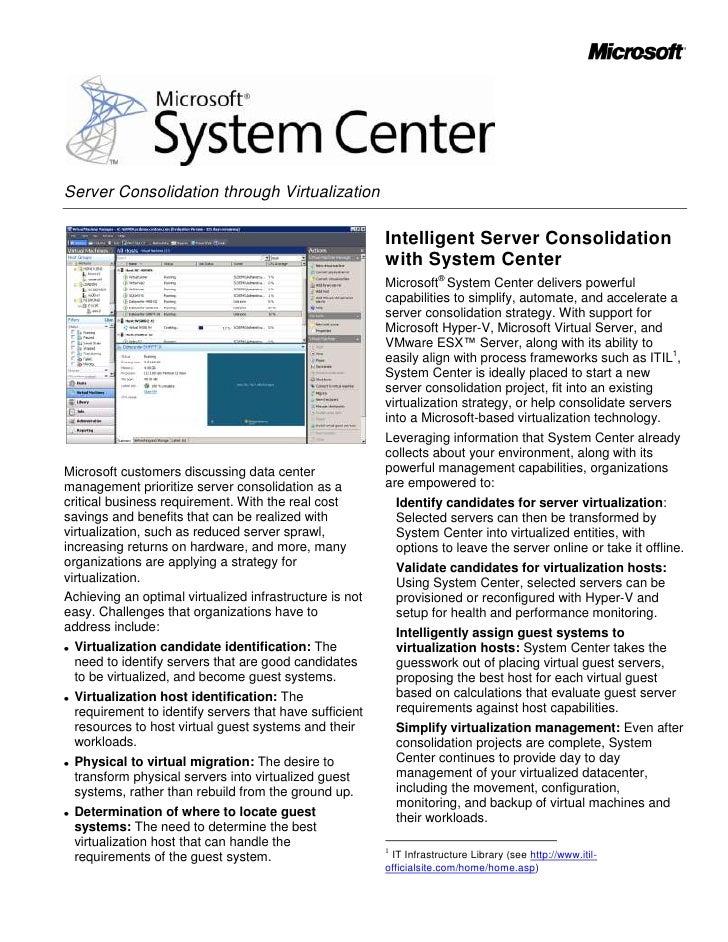 Server Consolidation through Virtualization                                                           Intelligent Server C...