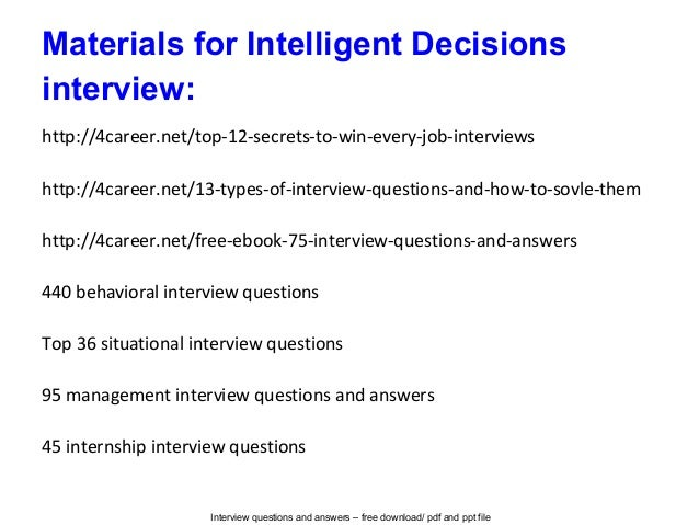intelligent questions with answers pdf