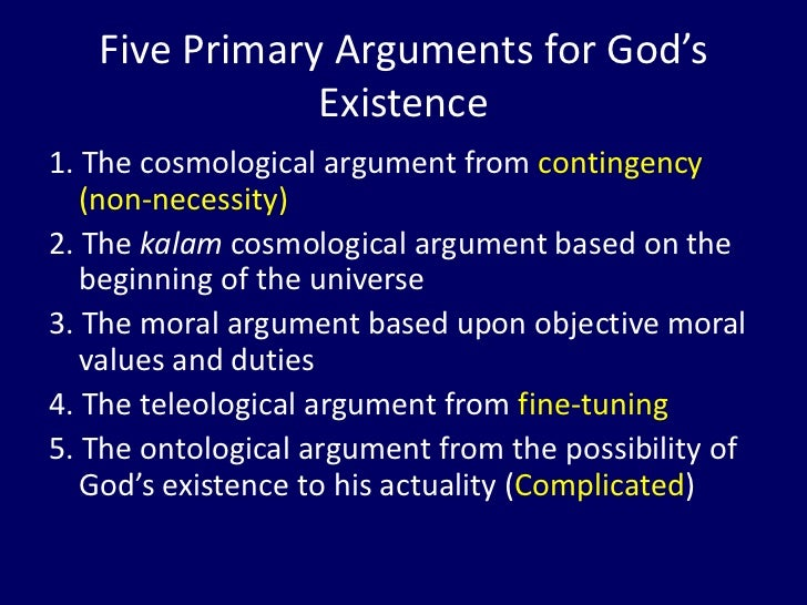 Ontological Arguments