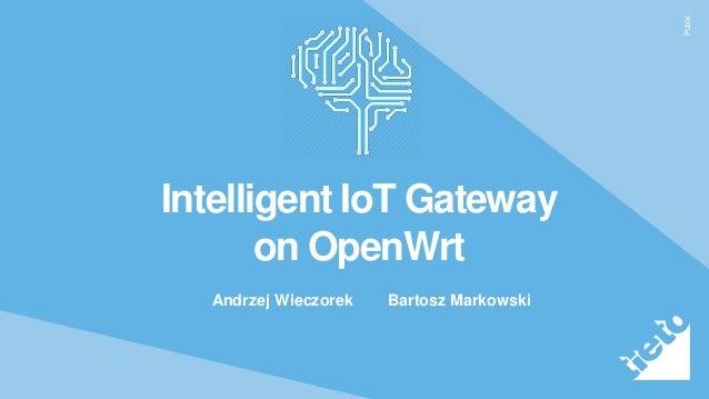 Public Intelligent IoT Gateway on OpenWrt Andrzej Wieczorek Bartosz Markowski