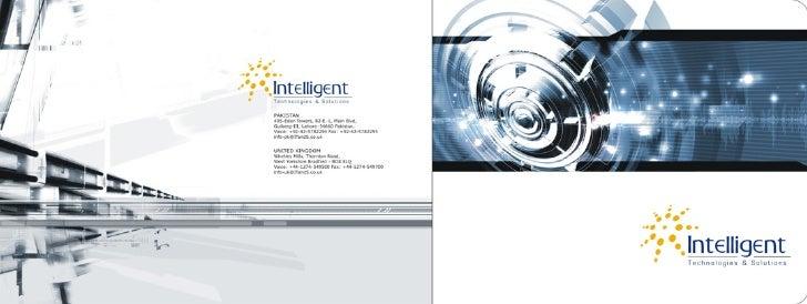 Intelligent software solution brochure