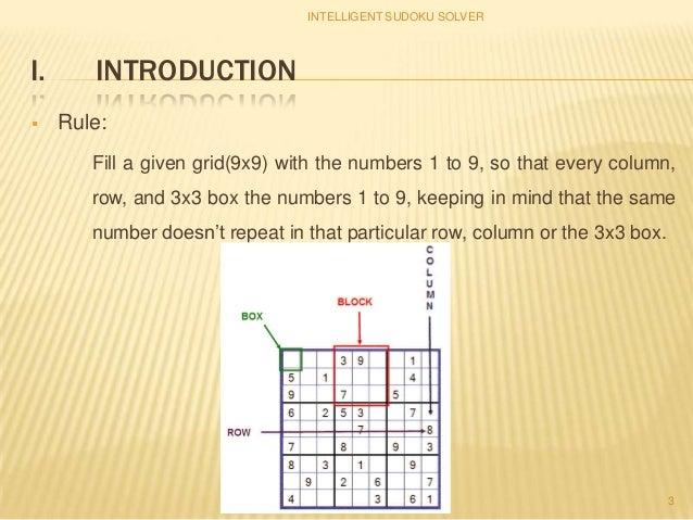 intelligent sudoku solver