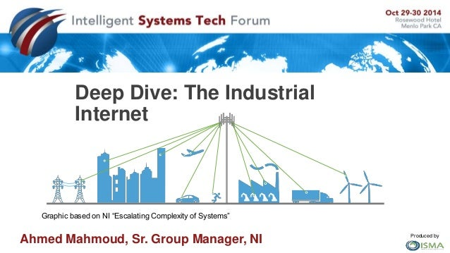"Produced by  Deep Dive: The Industrial  Internet  Graphic based on NI ""Escalating Complexity of Systems""  Ahmed Mahmoud, S..."