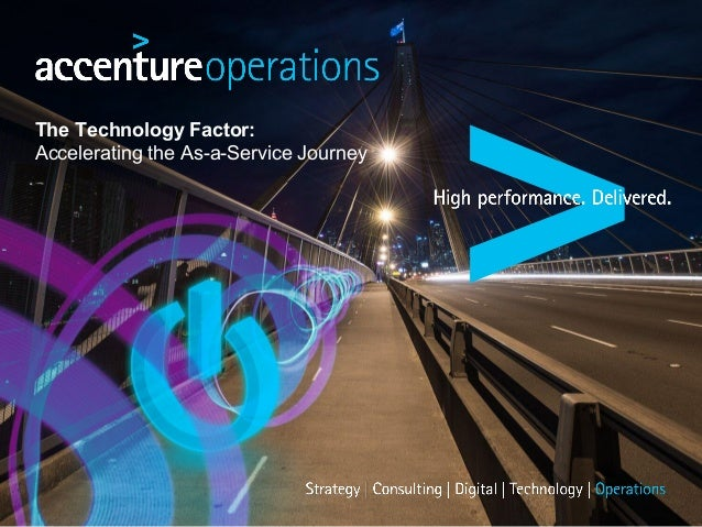 The Technology Factor: Accelerating the As-a-Service Journey