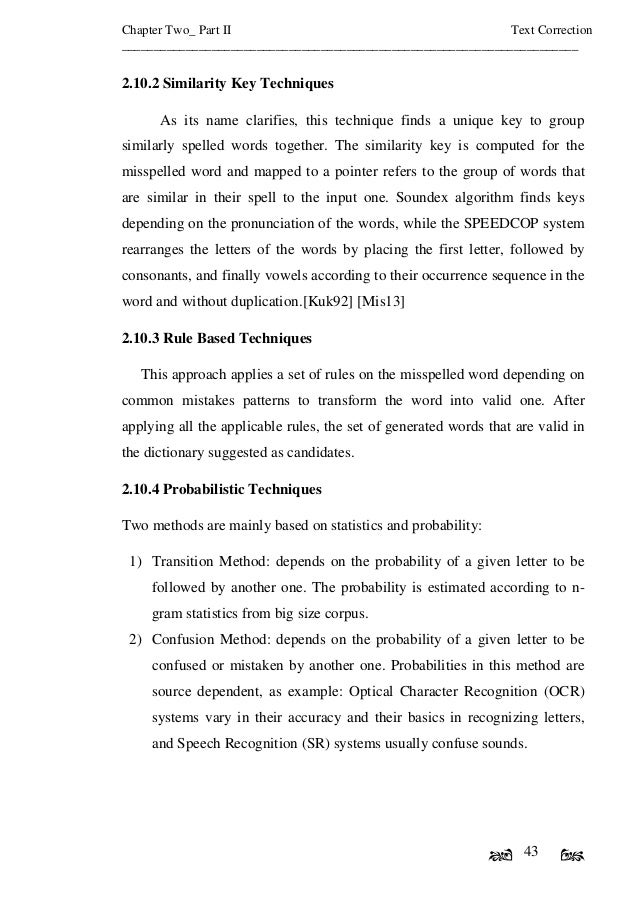 Intelligent text document correction system based on similarity techn 58 spiritdancerdesigns Choice Image