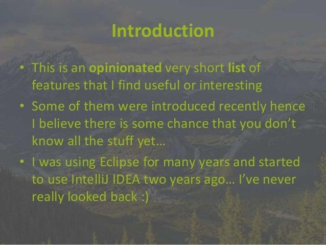 IntelliJ IDEA - Gems you can find inside Slide 2