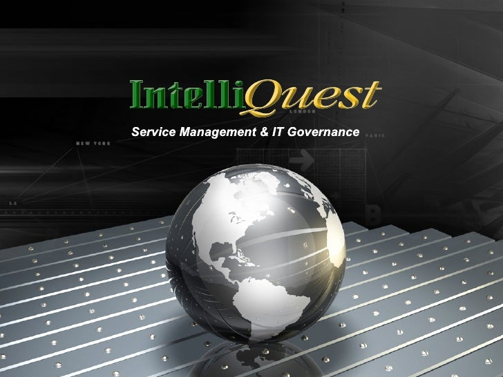 Service Management & IT Governance Service Management & IT Governance
