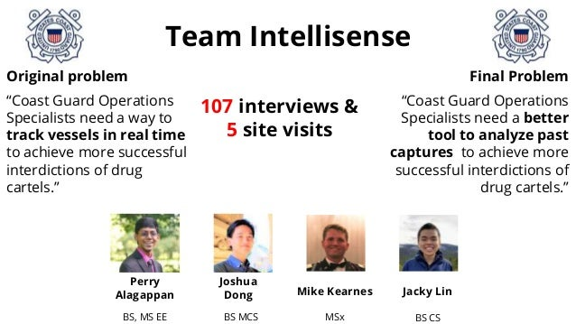 "Team Intellisense Original problem ""Coast Guard Operations Specialists need a way to track vessels in real time to achieve..."