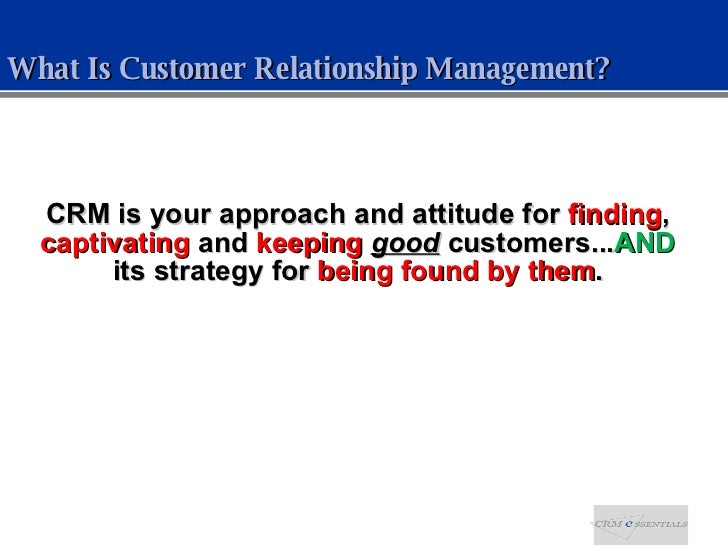 Social CRM - Not Your Father's Customer Relationship Management Slide 2