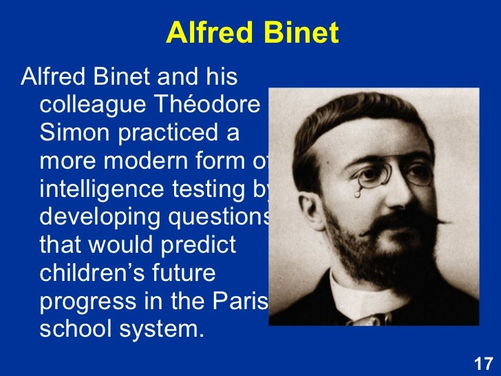 alfred binet and theodore simon intelligence test