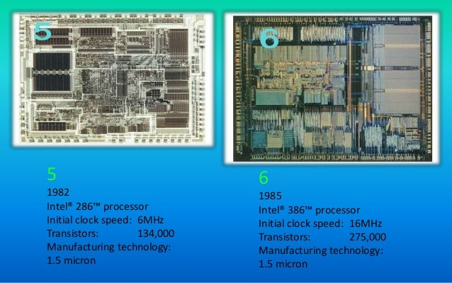 Intel proccessor manufacturing