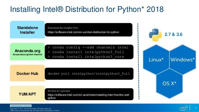Ready access to high performance Python with Intel
