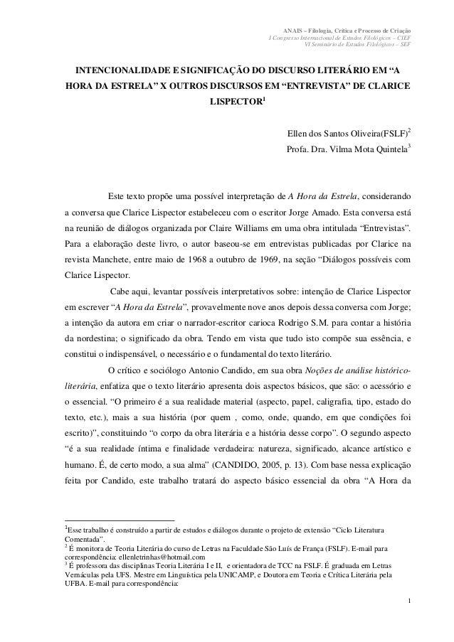 ANAIS – Filologia, Crítica e Processo de Criação                                                                  I Congre...