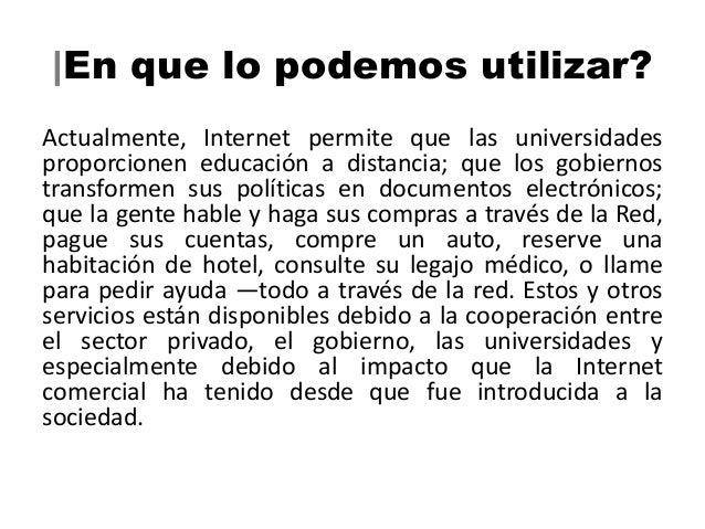  Por qué la necesidad de             Internet2?El mundo de hoy es extraordinariamente mucho más dinámico quehace 80 años a...