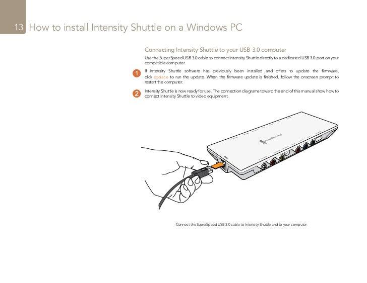 Intensity Shuttlemanual