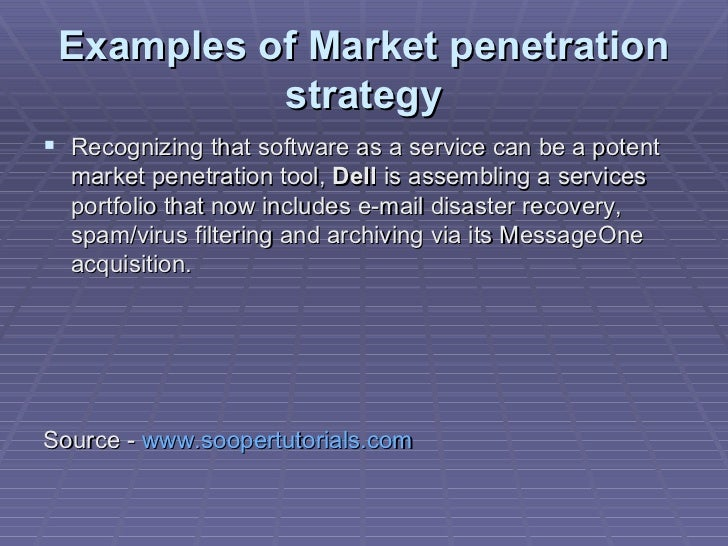 example of market penetration