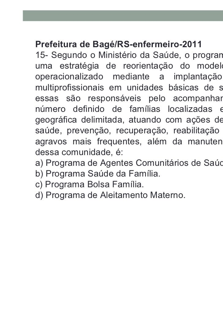 Prefeitura da Mariana/MG - enfermeiro- 201116-A média recomendada de número de habitantes porequipe de saúde da família, s...