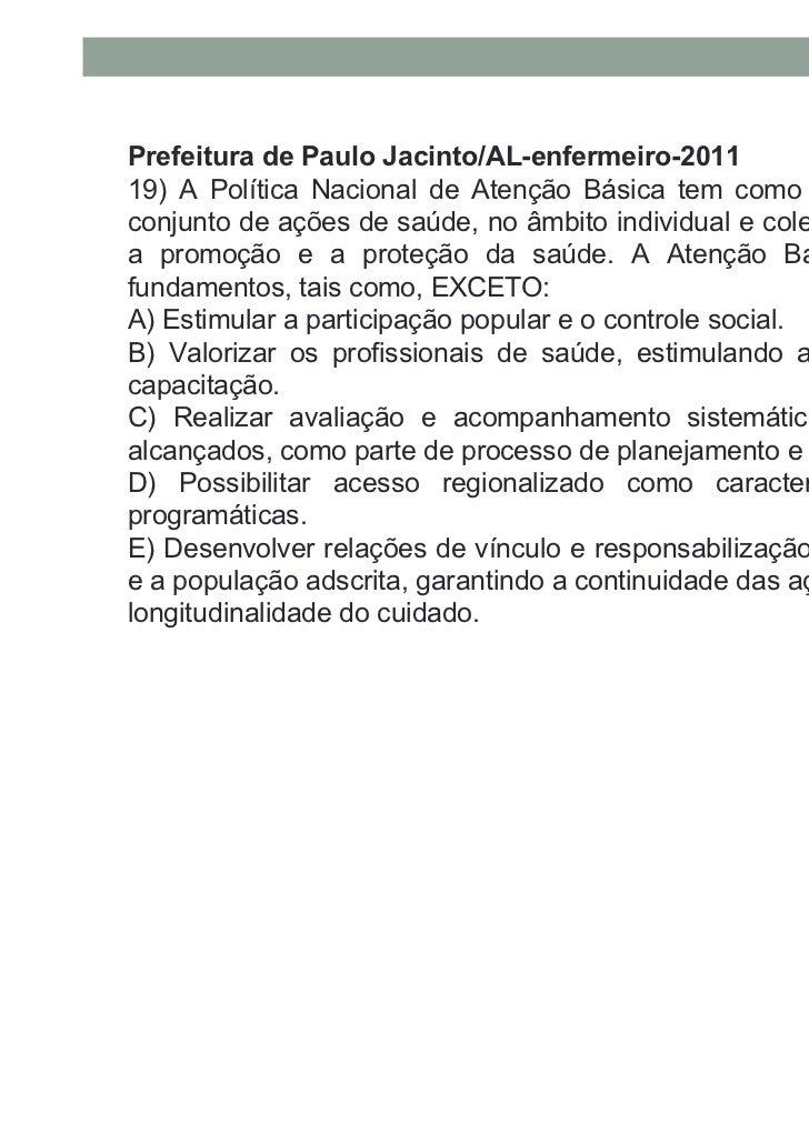 Prefeitura de Mariana/MG-enfermeiro - 201120-São princípios que norteiam a prática dos trabalhadoresnuma Unidade Saúde daF...
