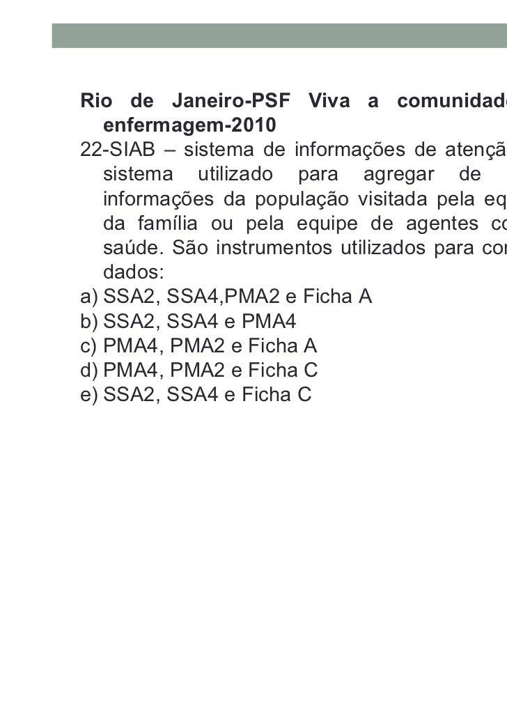 Rio de Janeiro-PSF Viva a comunidade-Técnico de   enfermagem-201023- Os gestores municipais de saúde do município Serra da...