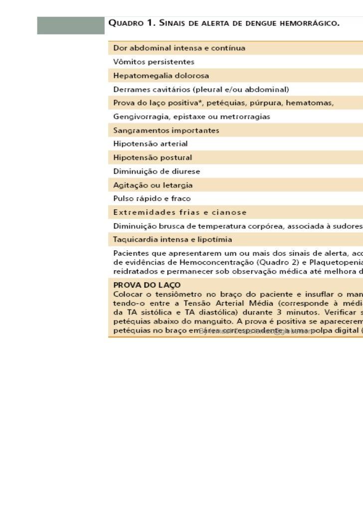 1)O Ministério da Saúde define como um caso de denguecom complicações todo caso que não se enquadre noscritérios de febre ...