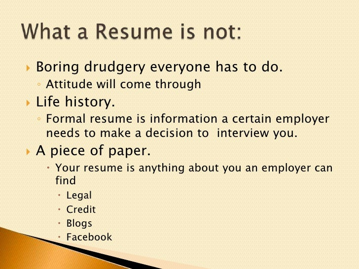 Intense Resume Get noticed to get that job