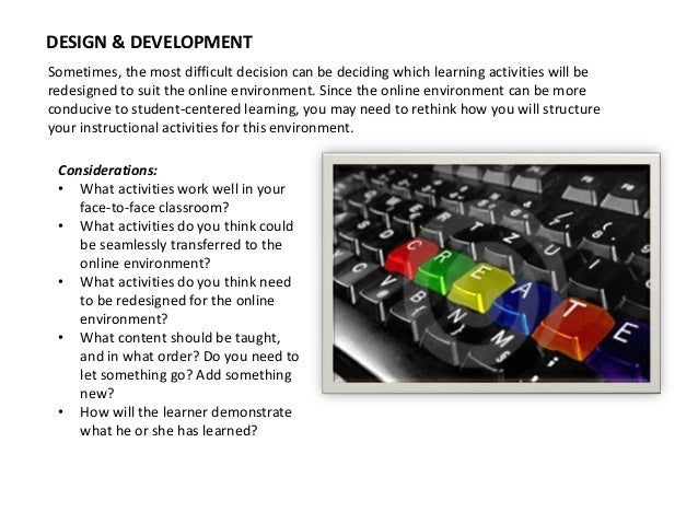 Intentional Course Design for Blended Learning Slide 3