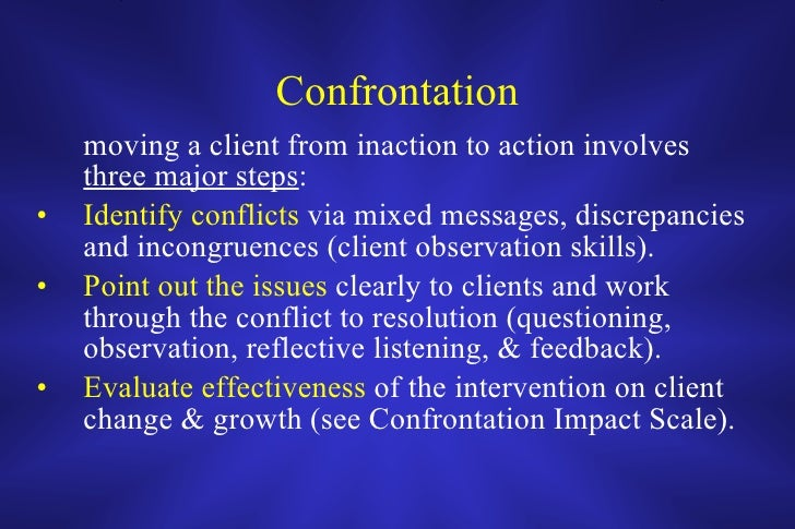 confrontation in social work
