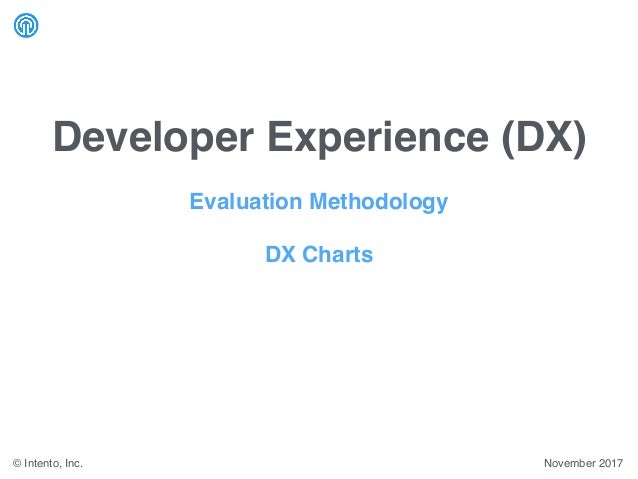 Developer Experience (DX) November 2017© Intento, Inc. Evaluation Methodology DX Charts
