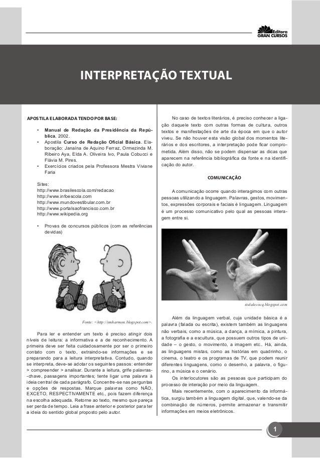 1  GRAMÁTICA  APOSTILA ELABORADA TENDO POR BASE:  • Manual de Redação da Presidência da Repú-blica,  2002.  • Apostila Cur...