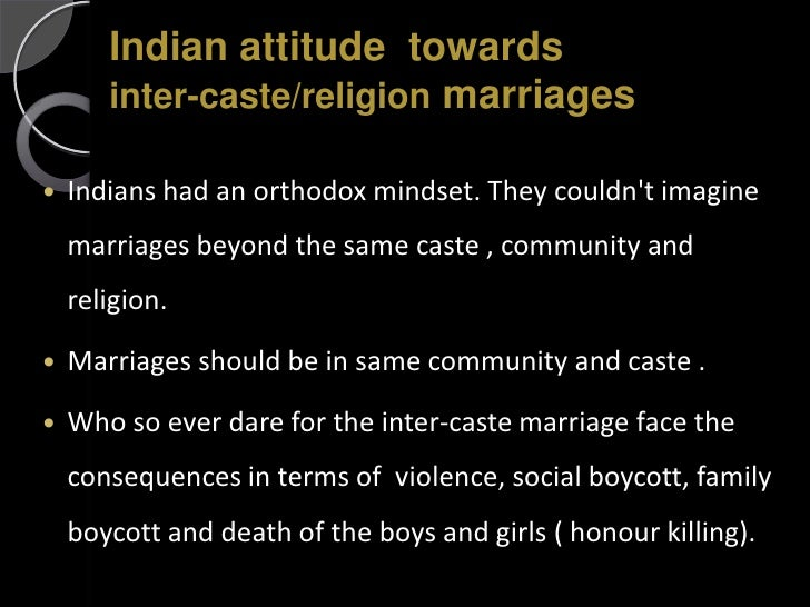 Intercaste Marriages