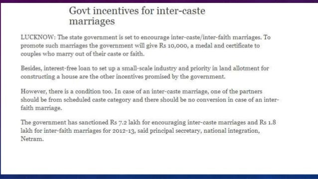 Essay on Inter-Caste Marriages under Hindu Marriages Act, 1955
