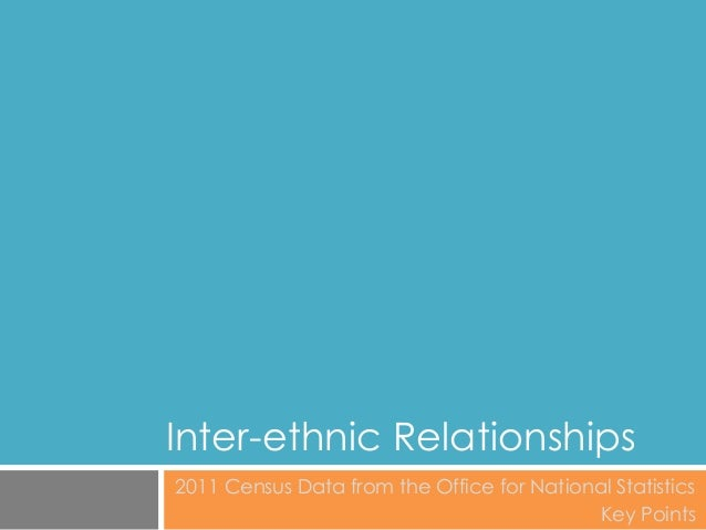 Inter-ethnic Relationships 2011 Census Data from the Office for National Statistics Key Points