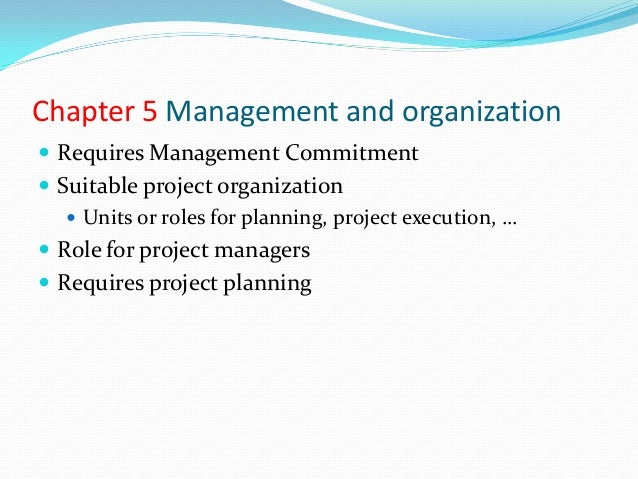 Starting Positions  USA - recommended focus on projects, focus on  processes (what not how), generic overarching standard...