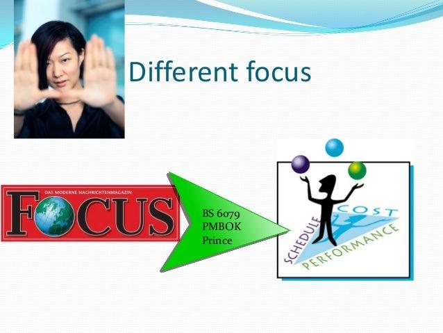 Different focus  IPMA ICB
